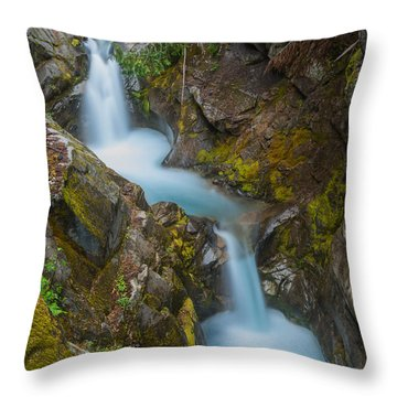 Moutain Waterfalls 5857 Throw Pillow by Chris McKenna