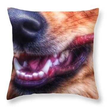 Mouth Throw Pillow