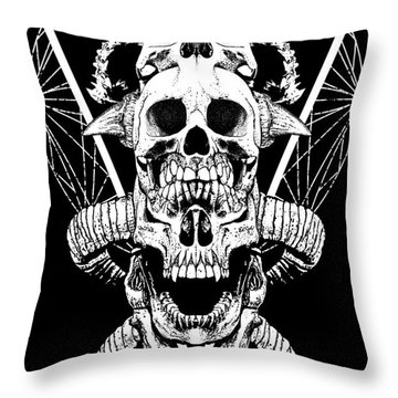 Mouth Of Doom Throw Pillow