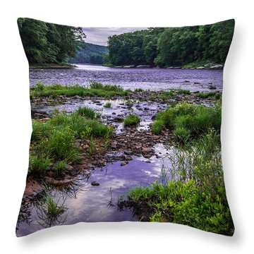 Mouth Of Maple Creek Throw Pillow