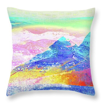 Move Mountain Throw Pillow