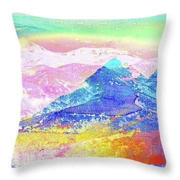Move Mountain Throw Pillow