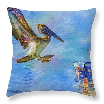 Move Over Throw Pillow by Deborah Benoit