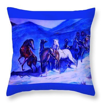 Move Over. Throw Pillow by Khalid Saeed