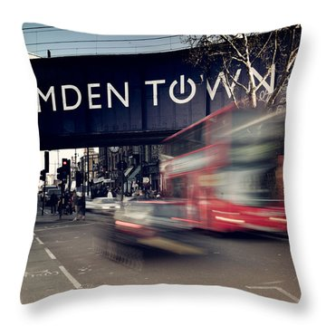 Move Quickly Throw Pillow