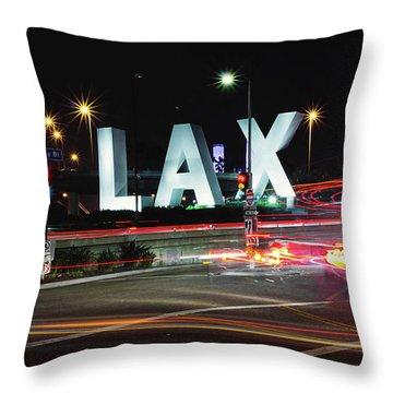Movement At Lax Throw Pillow