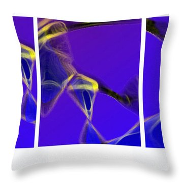 Throw Pillow featuring the digital art Movement In Blue by Steve Karol