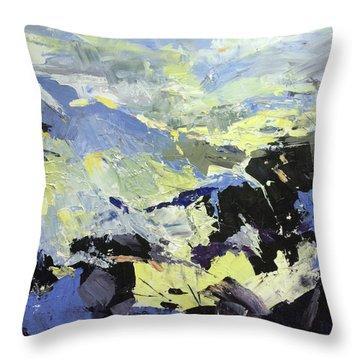 Movement Throw Pillow by NatikArt Creations