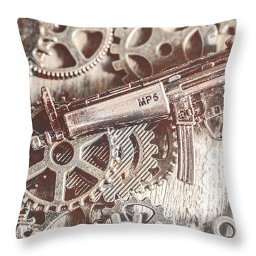 Movement Of Military Arms Throw Pillow