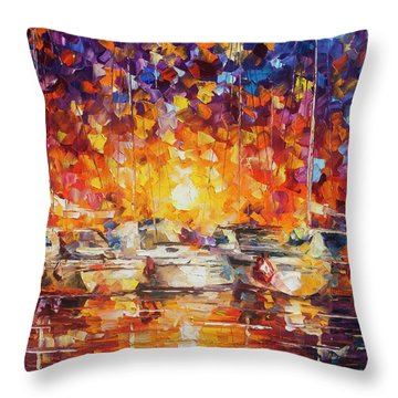 Movement Of The Sea Throw Pillow by Leonid Afremov