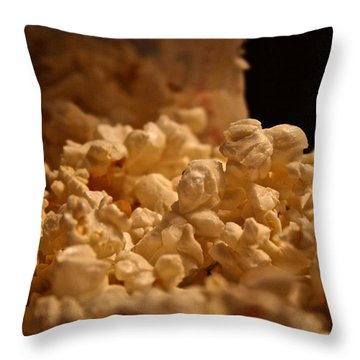 Movie Night Throw Pillow by Susan Herber
