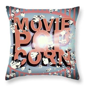 Movie Pop Corn Throw Pillow