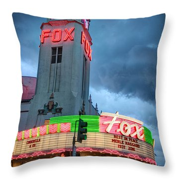 Movie Theater Tribute To Merle Haggard Throw Pillow