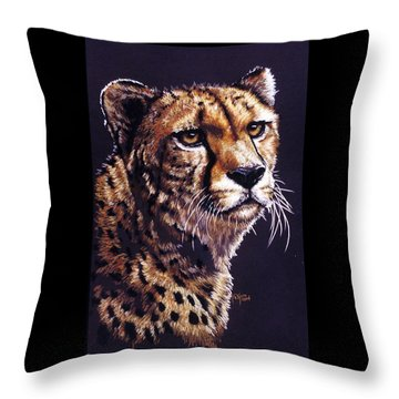 Throw Pillow featuring the drawing Movin On by Barbara Keith