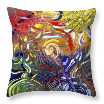 Moving Color Throw Pillow