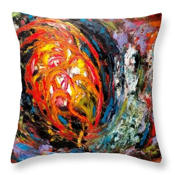 Moving Energy Throw Pillow