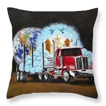 Moving Heaven And Earth  Throw Pillow