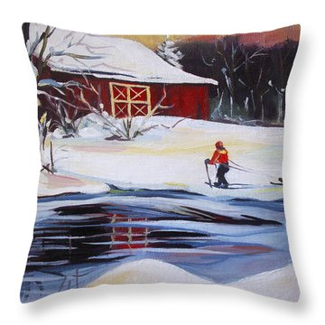 Moving Into Winter Haven Throw Pillow by Nancy Griswold