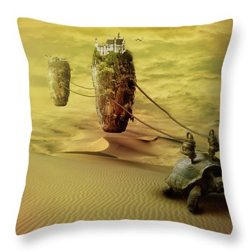Throw Pillow featuring the digital art Moving On by Nathan Wright