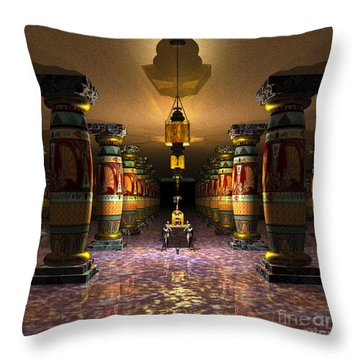Moving The Pharaoh, 1 Throw Pillow