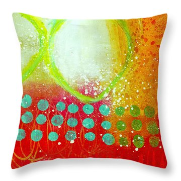 Moving Through 10 Throw Pillow by Jane Davies