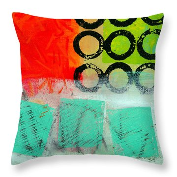 Moving Through 11 Throw Pillow by Jane Davies