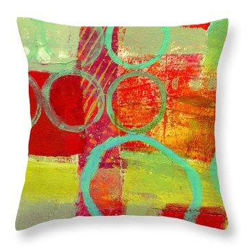Moving Through 31 Throw Pillow by Jane Davies