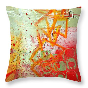 Moving Through 34 Throw Pillow by Jane Davies