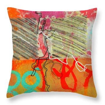 Moving Through 7 Throw Pillow by Jane Davies