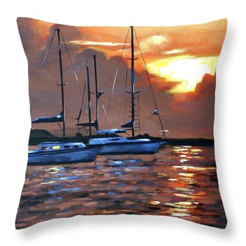 Moving Toward The Light Throw Pillow by Anthony Falbo