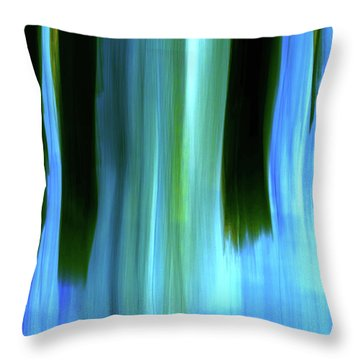 Moving Trees 37-05 Portrait Format Throw Pillow