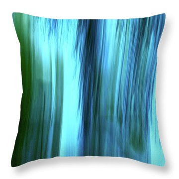 Moving Trees 37-15portrait Format Throw Pillow
