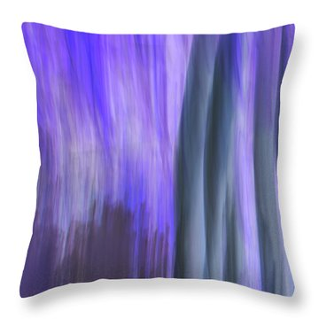 Moving Trees 37-36 Portrait Format Throw Pillow
