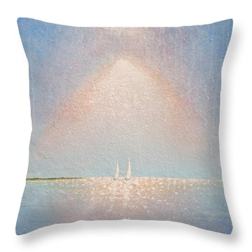 Moving With Spirit Throw Pillow
