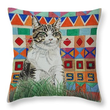 Mozart In The Grass Throw Pillow