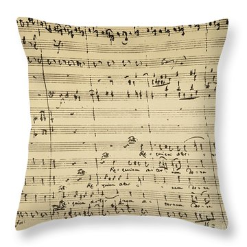 Mozart: Requiem Excerpt Throw Pillow
