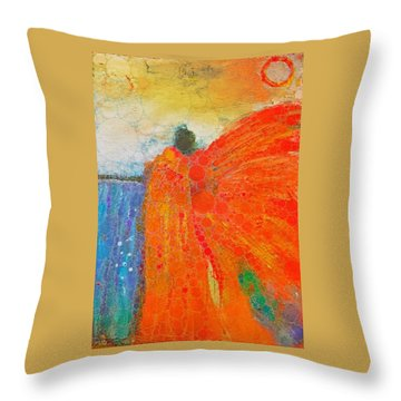 Mprints - Angel Of The Morning Throw Pillow