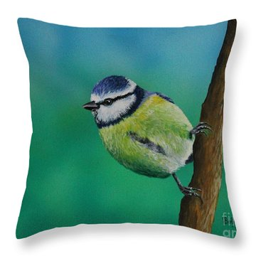 Mr. Agile........the Blue Tit Throw Pillow
