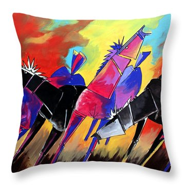 Mr Ameeba 5 Throw Pillow