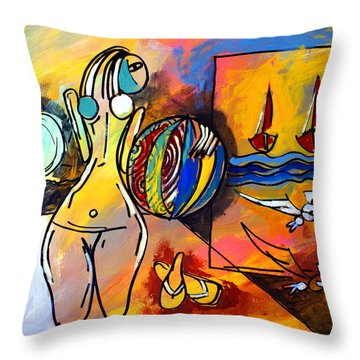 Mr Ameeba 6 Throw Pillow
