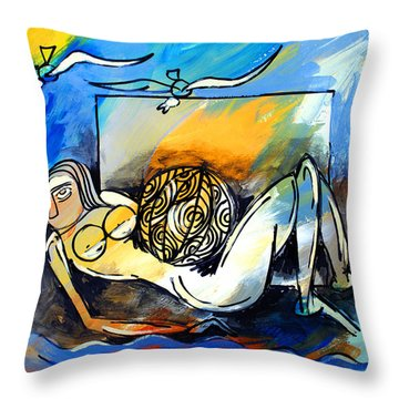 Mr Ameeba 9 Throw Pillow