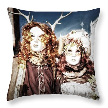 Mr And Mrs Deer Bypass Throw Pillow