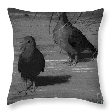 Mr And Mrs Dove Throw Pillow