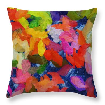 Mr Autumn Meets  Lady Spring - Painting - Wet Paint  Throw Pillow