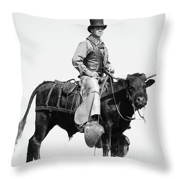 Mr Badoochie And Crab Throw Pillow by Kate Wiltshire