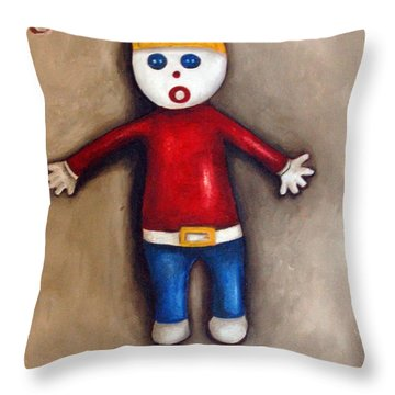 Mr. Bill Throw Pillow by Leah Saulnier The Painting Maniac