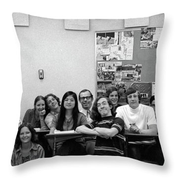 Mr Clay's Ap English Class - Cropped Throw Pillow