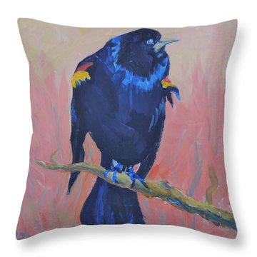 Mr. Cool  Throw Pillow by Francine Frank