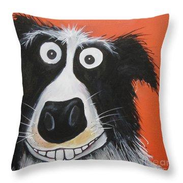 Mr Dog Throw Pillow