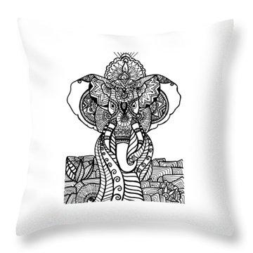 Mr. Elephante Throw Pillow